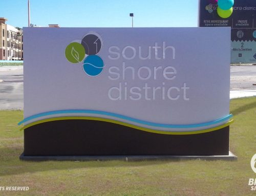 South Shore District – Monument Sign