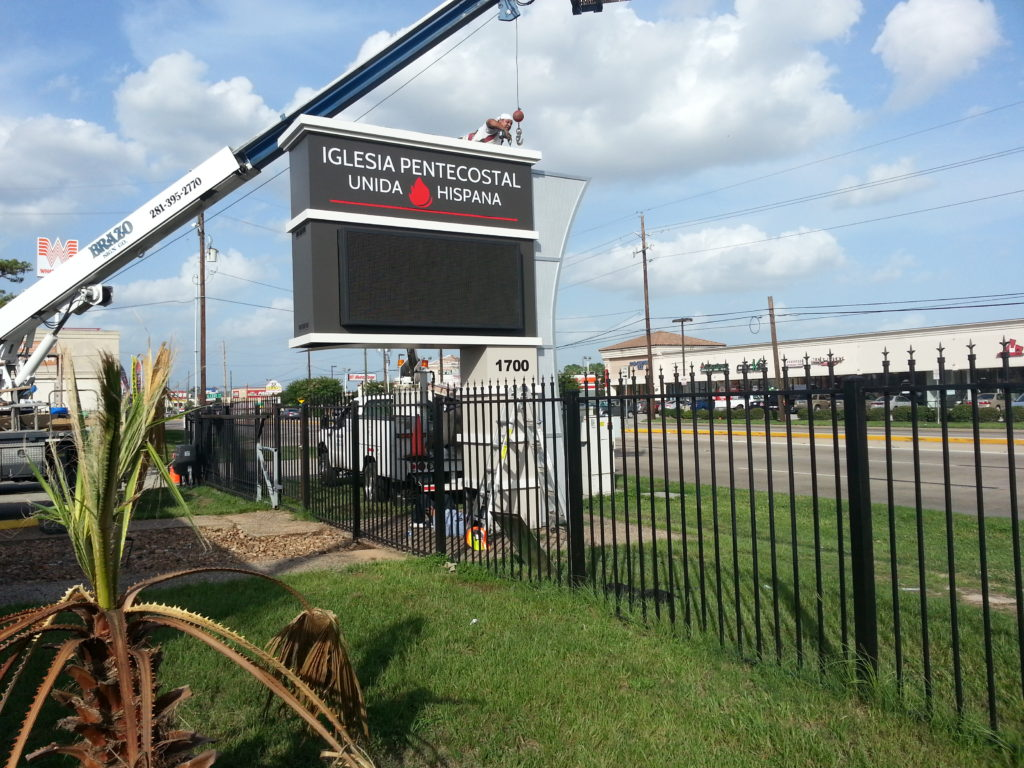 Outdoor church sign prices how much do church signs cost brazo sign co for How much do exterior business signs cost