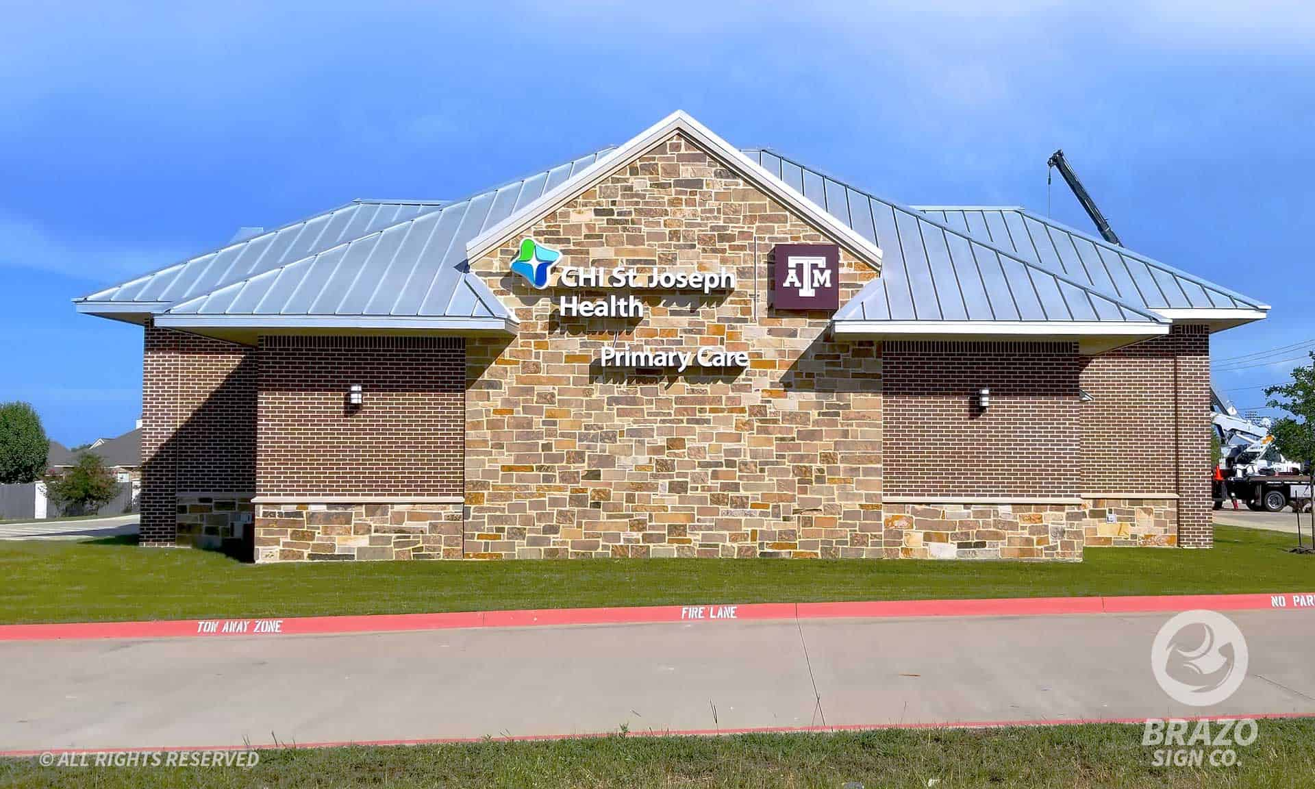 medical-illuminated-channel-letters-college-station-texas-st-joseph-texas-a-m-installation-2-completed