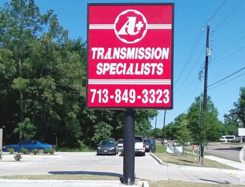 Pylon Sign – A Plus Transmission Specialists in Houston, TX