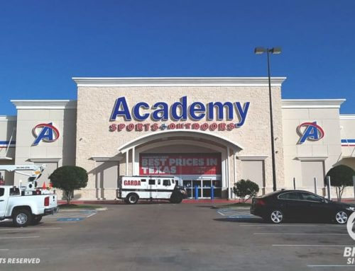 Illuminated Channel Letters Reface – Academy in Houston, TX