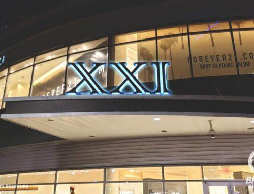 Reverse Lit Channel Letters – Forever 21 in Houston, TX